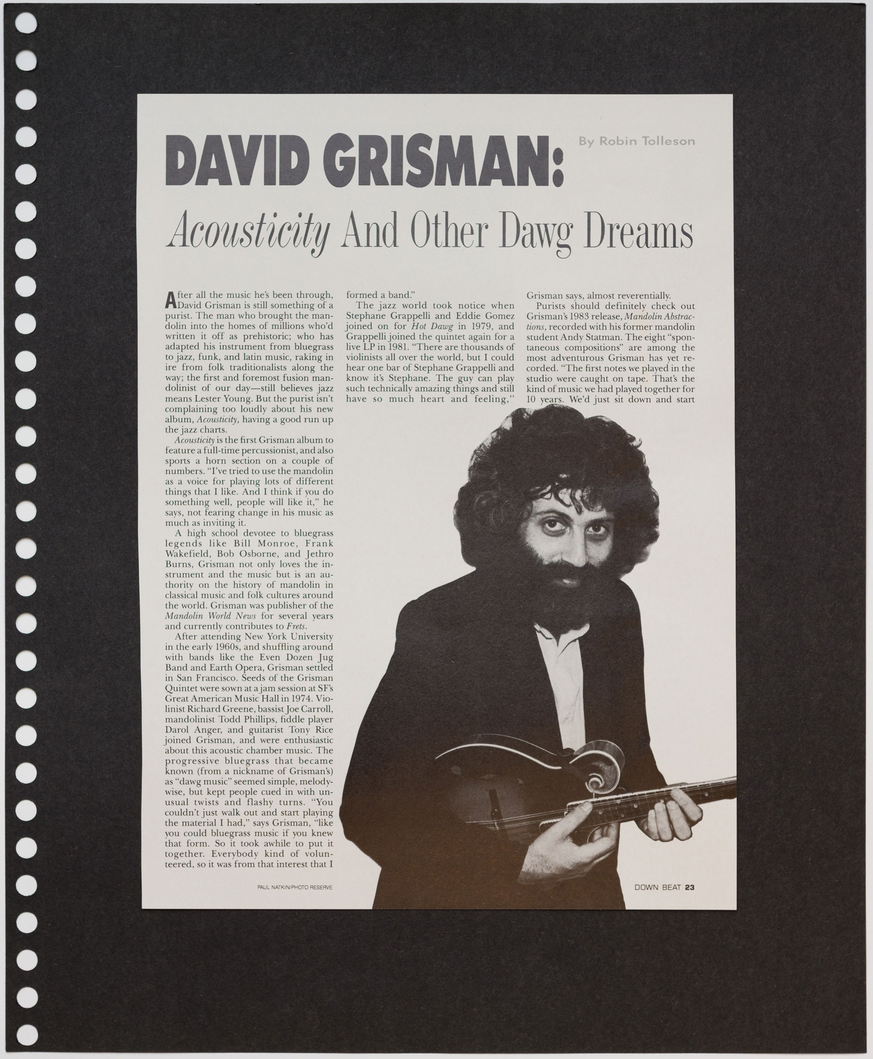 David Grisman Acousticity And Other Dawg Dreams Spinterview